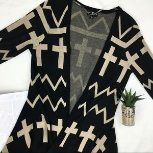 Dreamcatcher Printed Cross Open Cardigan